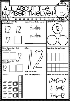 A Number A Day Printables for NSW Foundation Font