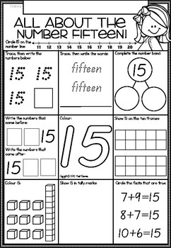 A Number A Day Printables in Queensland Beginners Font