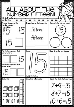 A Number A Day Printables in South Australian Font