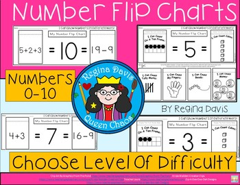 A+ Number Flip Charts: 0-10 Differentiated Instruction