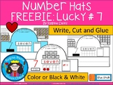 A+ Number Hats: Number #7 FREEBIE