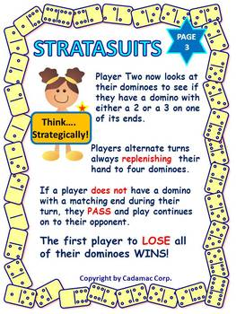 A Number Sense Domino Math Game With Problem Solving: Stratasuits is Fun