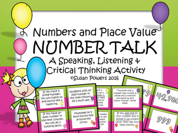 A Number Talk Drama Circle Activity for Number Sense and Place Value