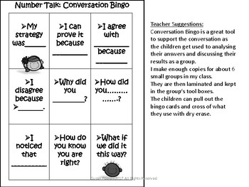 A Number Talk Speaking and Listening Activity for Number Sense and Operations