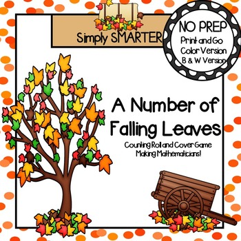 A Number of Falling Leaves:  NO PREP Counting Roll and Cover Game