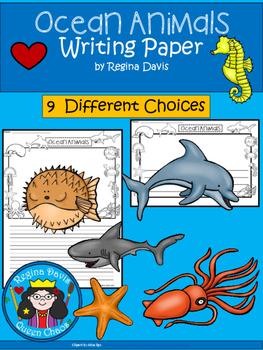 A+ Ocean Animals ... Writing Paper