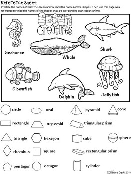 A+ Ocean Animals and Math Shapes