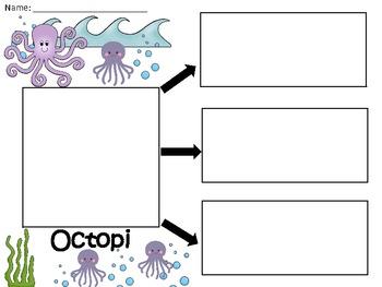 A+  Octopi ... Three Graphic Organizers