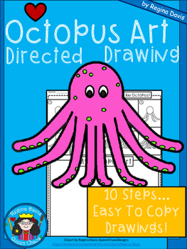 A+ Octopus Art: Directed Drawing