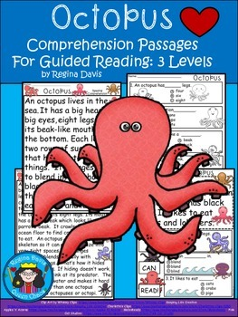 A+ Octopus.... Comprehension: Differentiated Instruction For Guided Reading
