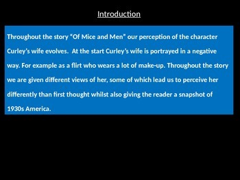 A Of Mice And Men Exemplar Essay By Steve English  Tpt A Of Mice And Men Exemplar Essay