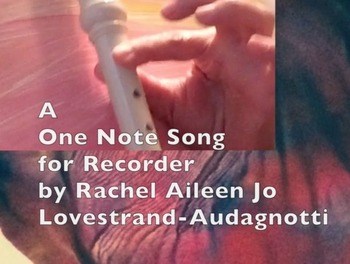 A One Note Recorder play along song