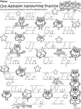 A+ Owl: Alphabet Handwriting Practice