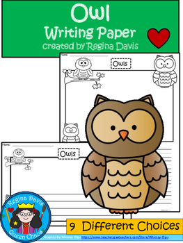 A+ Owl Writing Paper