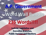 U.S. Government or Civics Word Wall BUNDLE!!!