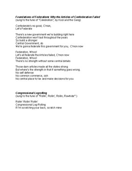 A.P. Government and Politics Songbook