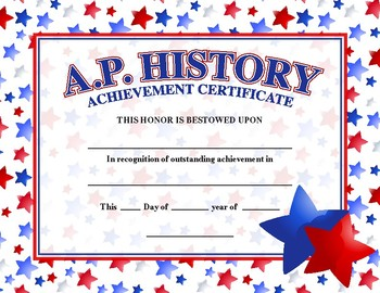 A.P. History Certificate