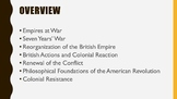 A.P. U.S. History Period 3 Notes and PPT: Imperial Wars an