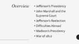 A.P. U.S. History Period 4 Notes and PPT: Age of Jefferson
