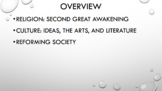 A.P. U.S. History Period 4 Notes and PPT: Society, Culture