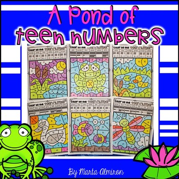 A POND OF TEEN NUMBERS – Color By Code and Interactive Slide Show