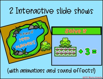 A POND OF TEEN NUMBERS – Color By Code/Interactive Slide Show