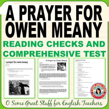 A PRAYER FOR OWEN MEANY-- Reading Checks and Comprehensive Test
