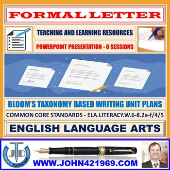 FORMAL LETTER WRITING: PRESENTATION