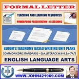 FORMAL LETTER WRITING: READY TO USE LESSON PRESENTATION