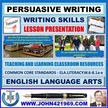 PERSUASIVE WRITING: PRESENTATION