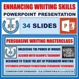 PERSUASIVE WRITING - READY TO USE LESSON PRESENTATION