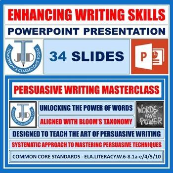 A PRESENTATION ON PERSUASIVE WRITING
