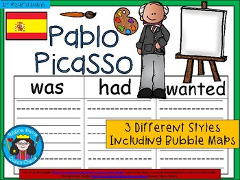 A+ Pablo Picasso ...Three Graphic Organizers