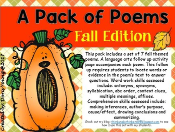 A Pack of Poems: Fall Edition
