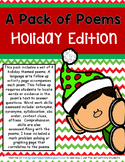 A Pack of Poems: Holiday Poems with Language/Math Practice