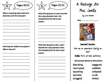 A Package for Mrs. Jewls Trifold - Journeys 5th Grade Unit 1 Week 1 (2014, 2017)