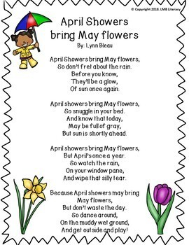A Packet Of Poems-APRIL-Fun April Poems in color and B&W