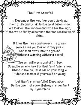 A Packet Of Poems-December-Fun December Poems in color and B&W