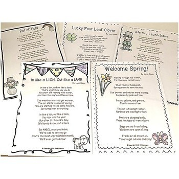 A Packet Of Poems-March-Fun March Poems in color and B&W