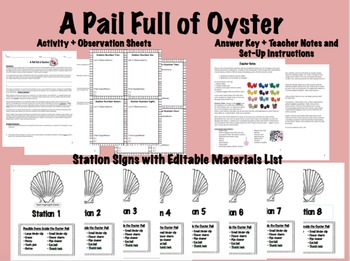 A Pail Full of Oysters - Scientific Method Inquiry Activity
