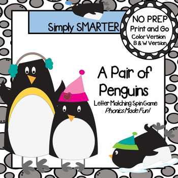 A Pair of Penguins:  NO PREP Letter Matching Spin Game