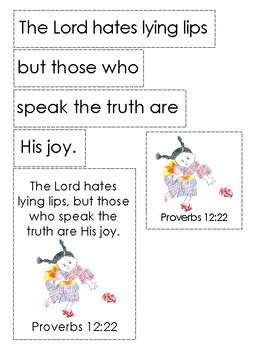 A Pair of Red Clogs Bible Verse Printable (Proverbs 12:22)