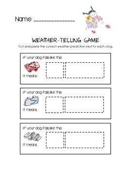 A Pair of Red Clogs - Weather-Telling Game