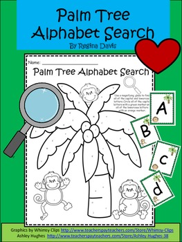 A+ Palm Tree Alphabet Search and Alphabet Cards