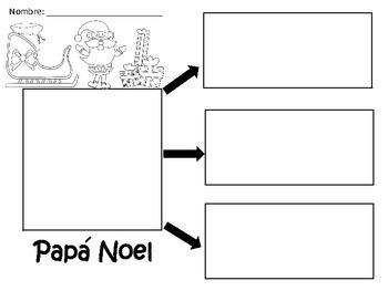 A+ Papa Noel...Spanish Graphic Organizers