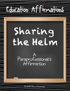 A Paraprofessional's Affirmation (Professional Development)