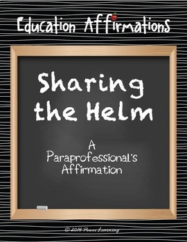 A Paraprofessional's Affirmation (Professional Development)