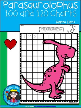 A+ Parasaurolophus Dinosaur: Numbers 100 and 120 Chart