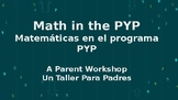 A Parent Engagement Workshop: Math in the PYP