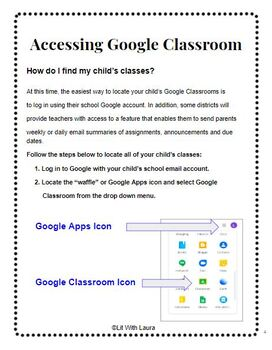 Distance Learning A Parent's Guide to Google Classroom #Distancelearningtpt
